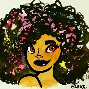Galactic Afro Femme